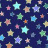 Étoile sans couture sur le fond bleu-foncé illustration libre de droits