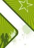 étoile verte de fond illustration libre de droits
