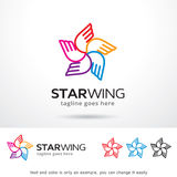 Étoile Wing Logo Template Design Vector Photos stock