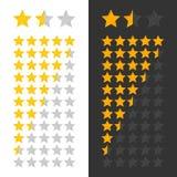 Étoiles évaluant le panneau Images stock