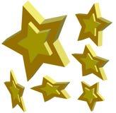 étoiles 3d Photographie stock