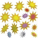 étoiles 3d Images libres de droits