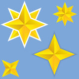 Étoiles abstraites de vecteur Photographie stock libre de droits