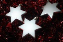 3 étoiles argentées (3) Photographie stock libre de droits