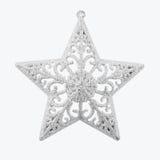 Étoiles argentées de Noël Images libres de droits