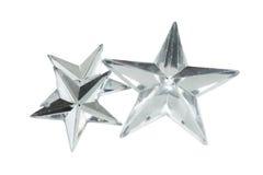 Étoiles argentées de Noël Photographie stock libre de droits