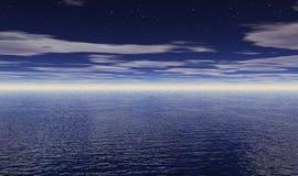 Étoiles au-dessus d'océan Photos stock