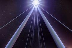 Étoiles au-dessus de pont d'or de jubilé Image libre de droits