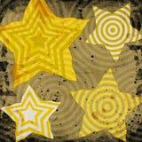 Étoiles avec différentes textures Photographie stock