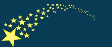 Étoiles avec le fond bleu illustration libre de droits