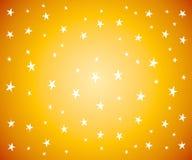 Étoiles blanches sur le fond d'or Image libre de droits