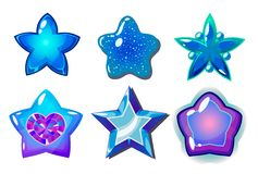 Étoiles bleues Photos libres de droits