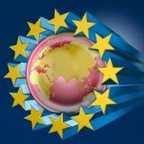 Étoiles bleues de l'Europe et de l'Asie Photo stock