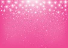 Étoiles brillantes sur le rose Photos libres de droits
