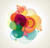 Étoiles, bulles et lignes tordues. Images libres de droits