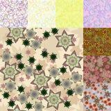 Étoiles Cercles et tache floue Images stock