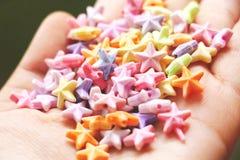 Étoiles colorées Image libre de droits