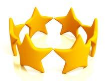 Étoiles colorées d'isolement sur le blanc Images libres de droits