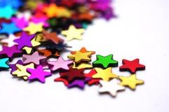 Étoiles colorées macro Photo stock