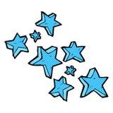 étoiles comiques de bande dessinée illustration stock