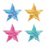 Étoiles créatives de polygone Photos stock