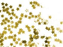 Étoiles d'or Photo libre de droits