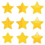 Étoiles d'or illustration de vecteur