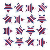 Étoiles d'Américain avec les rayures 1 Image stock