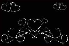 Étoiles d'amour de coeur Images libres de droits