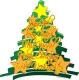 Étoiles d'arbre de Noël Photos stock