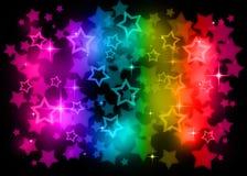 Étoiles d'arc-en-ciel Photos libres de droits