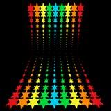 étoiles d'arc-en-ciel Images libres de droits