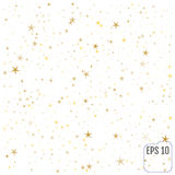 Étoiles d'or Célébration de confettis, décorums abstraits d'or en baisse Image stock