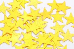 Étoiles d'or d'isolement Image libre de droits