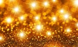 Étoiles d'or de Noël photo stock