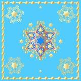 Étoiles d'or de vacances de David Blue Poster Photos stock