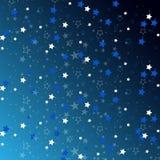 Étoiles d'isolement sur le fond Célébration de confettis Images libres de droits