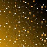 Étoiles d'isolement sur le fond Célébration de confettis La décoration abstraite d'étoiles filantes pour la partie, anniversaire  Photographie stock libre de droits