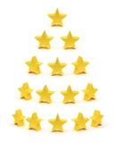 Étoiles d'or raiting le ramassage Image libre de droits