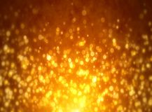 Étoiles d'or sur le fond noir illustration de vecteur