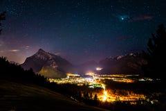 Étoiles d'univers d'Astrophotography de Banff Alberta photos libres de droits