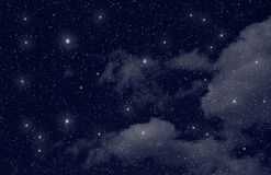 Étoiles dans l'espace Photo libre de droits