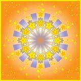 Étoiles dans l'illustration de roue Photo libre de droits