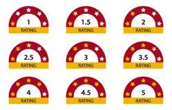 Étoiles de évaluation 1 5 illustration de vecteur