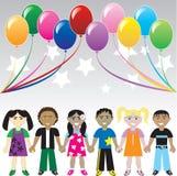 Étoiles de ballons de gosses illustration libre de droits