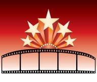 Étoiles de bande de film Image stock