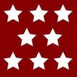Étoiles de blanc sur un fond Image libre de droits