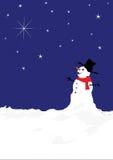 étoiles de bonhomme de neige Image stock