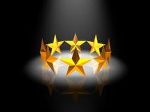 étoiles de boucle Images stock