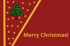 Étoiles de carte de Noël Image stock
